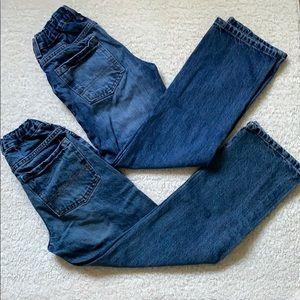 Bundle of 2 used jeans for boys-size 10 regular